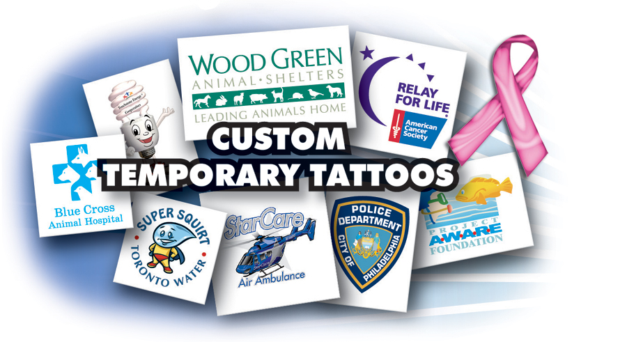 Custom Temporary Tattoos for your Cause! We're excited to offer our friends